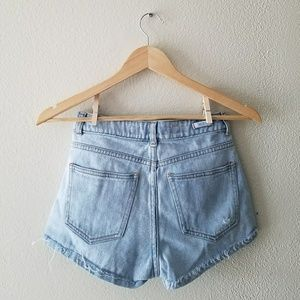 Brandy Melville Shorts - Brandy Melville distressed light wash shorts